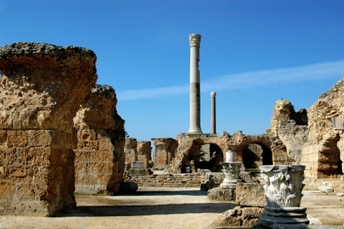 The ruins of ancient Carthage