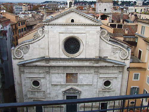 Upper facade of Sant'Agostino Church, Rome