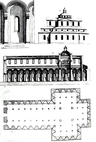 Architectural drawings of Santo Spirito Church