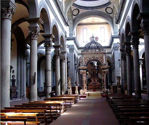 Santo Spirito Church of Florence, administered by the Augustinians