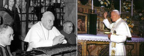 Popes John XXIII and John Paul II visited the Good Counsel Shrine.