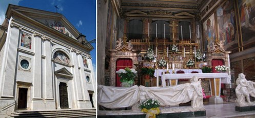 Good Counsel Shrine: facade and sanctuary at Genazzano