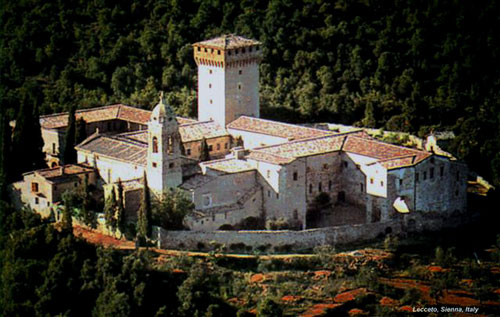 Lecceto monastery, now occupied by Augustinian Contemplative Nuns.