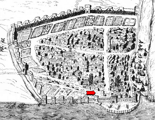 "The red arrow is Monkgate (""Monk Street""), where the Austin Friars were"
