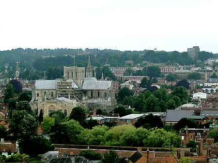 A portion of Winchester, showing its outstanding cathedral