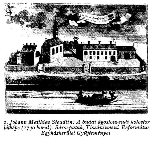 The Augustinian property at Buda in 1741.
