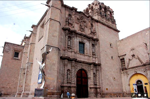 The Church of San Agustín in Queretaro was built during 1731-1743