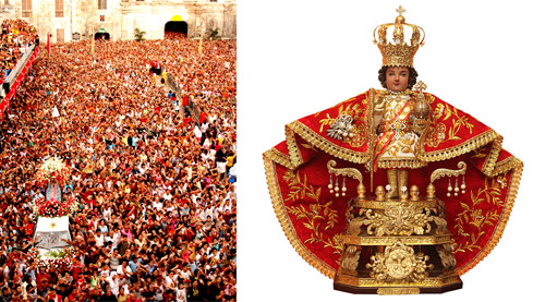 The Santo Niño fiesta, held each January at Cebu / Santo Niño statue