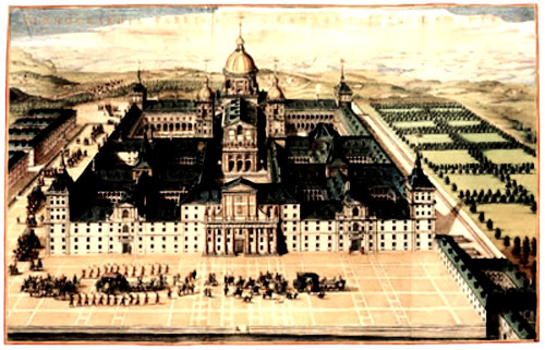 Palace and monastery, El Escorial was built 1563 - 1585 by King Philip II