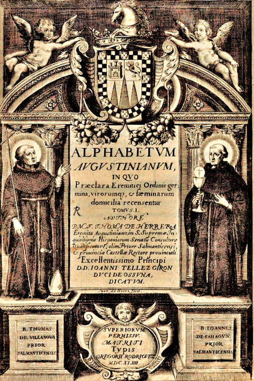 Title page of an early edition of Herrera's Alphabetum Augustinianum