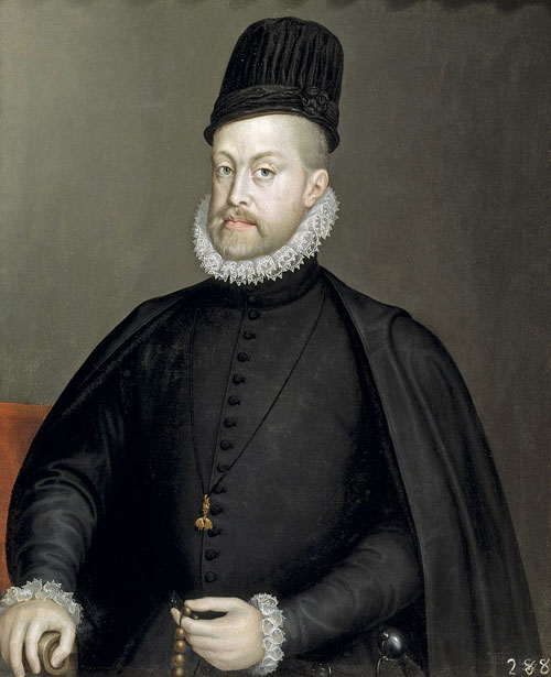 King Philip II of Spain as painted by Sofonisba Anguissola