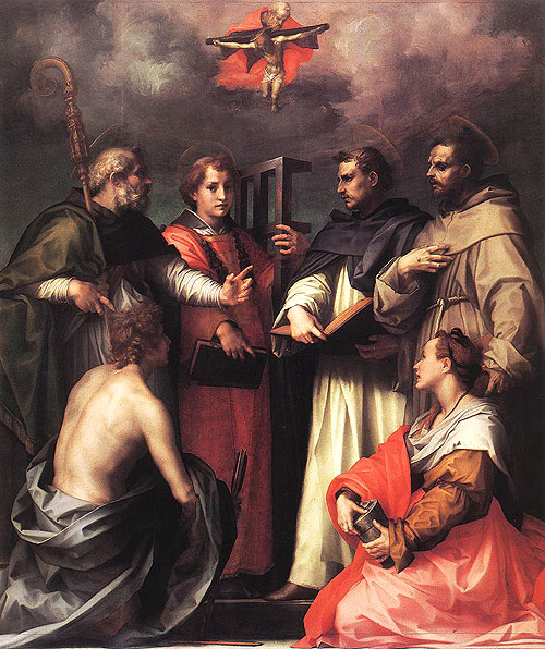 Andrea del Sarto: Disputa di S. Agostino. (Augustine discusses the Trinity)