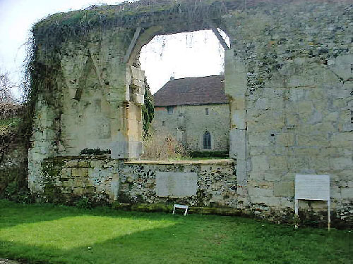 Part of priory church of the 1530s at Clare Priory, Suffolk, England