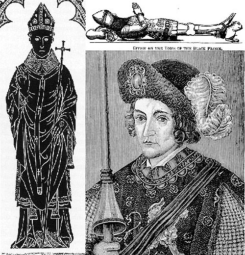 Clockwise: Robert Waldeby, the Black Prince, and Richard II