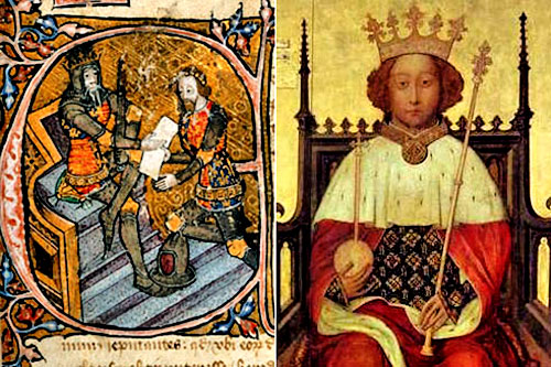 (Left) The Black Prince and (right) his son who became Richard ii