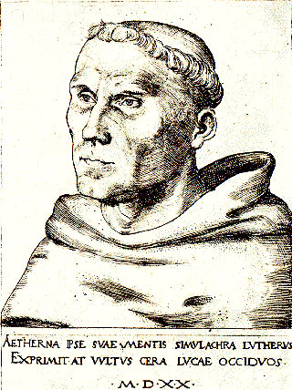 Martin Luther as a young friar