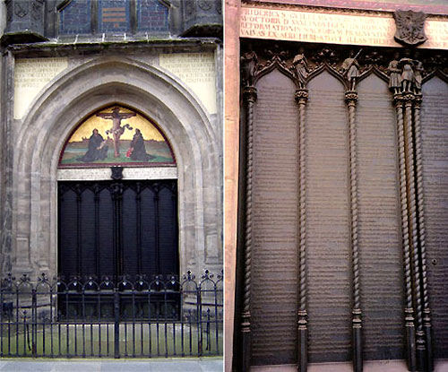 The doors of Wittenberg's Castle Church today.