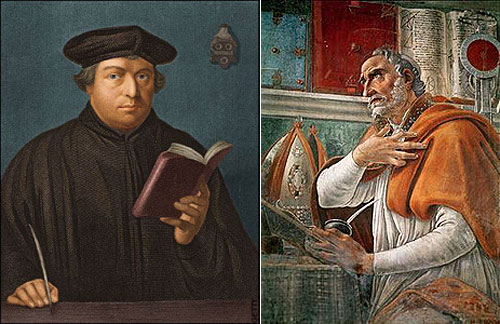 Martin Luther and Augustine of Hippo
