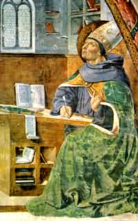 Saint Augustine writing