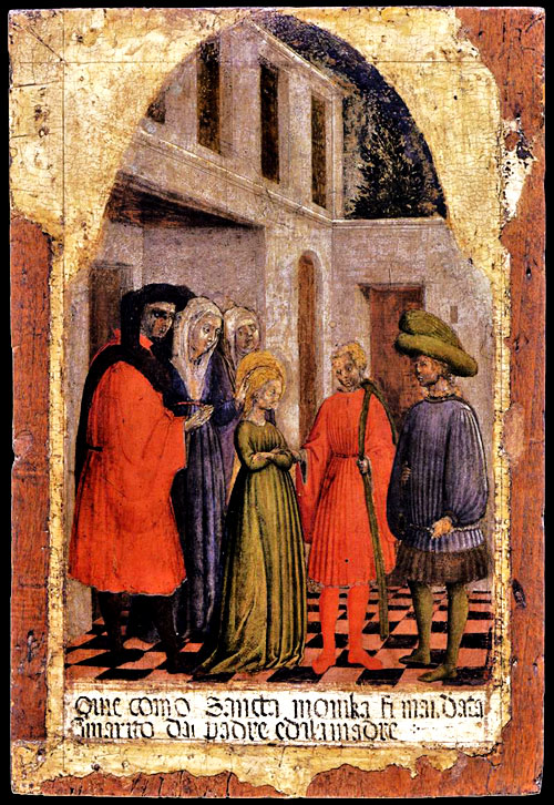 The wedding of St Monica (mother of Augustine) to Patricius