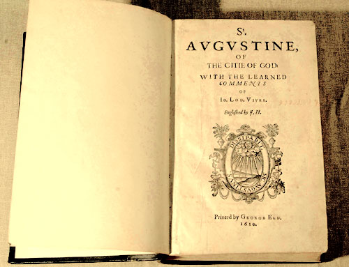 The first English language edition of the City of God was printed in 1610.