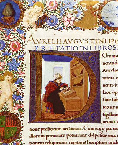 An illuminated manuscript of one of Augustine's writings