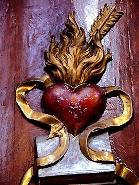 "Augustinian ""heart and book and cincture"" symbols"