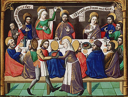 The announting of Christ at the Last Supper: from a copy of City of God