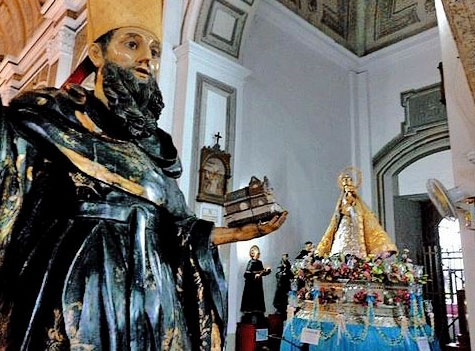 Statues of St Augustine and the Sto. Nino: Intramuros, Manila