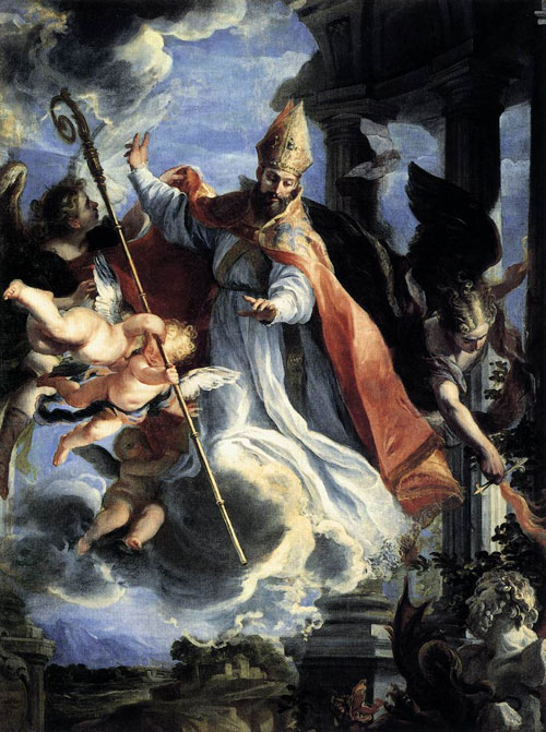 Triumph of St Augustine by Claudio Coello in 1664. Prado Museum, Madrid