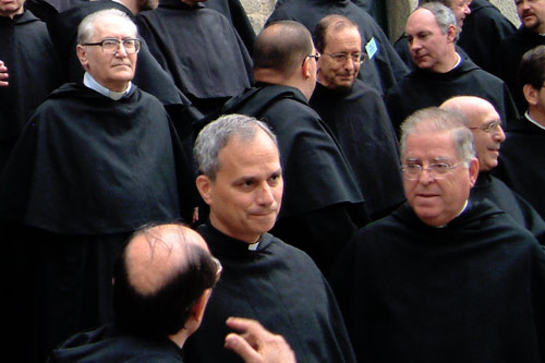 Augustinian leaders at an international meeting in Spain.