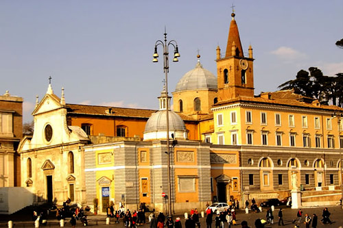 The Church of S. Maria del Popolo, in Augustinian charge since 1250