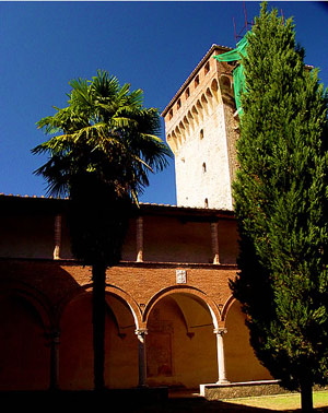 The traditional Tuscan tower at Lecceto