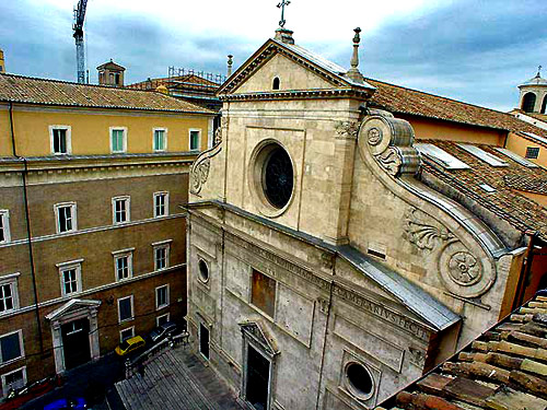 Renaissance frontage of Sant'Agostino Augustinian Church, Rome