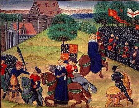 The final scene near London of Wat Tyler's Revolt of in the year 1381
