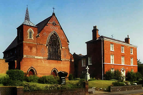 St Austin's Catholic Church, Stafford, on the site of the former Austin Priory.
