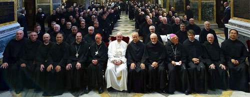Pope Francis at the Augustinian General Chapter in Rome during 2013.