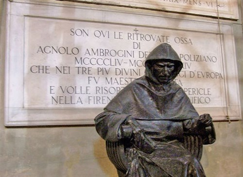 A statue of Girolamo Savanarola at the Dominican Monastery in Florence
