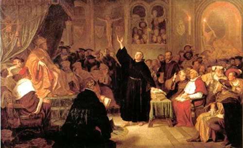 Painting: Martin Luther at the Diet of Worms
