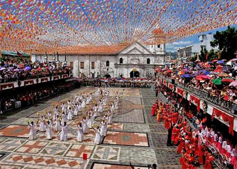 Cultural religious dancing at Sto. Nino festival in Cebu each January