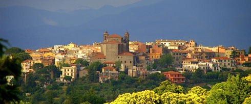 A view of Carpineto, the home town of Leo XIII.