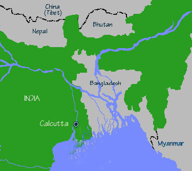 Bangladesh and surrounding terretories
