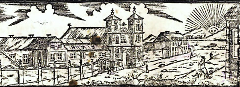 Former Augustinian church and monastery in Buda as drawn in 1819
