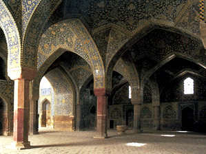 The interior of the Isfahan mosque