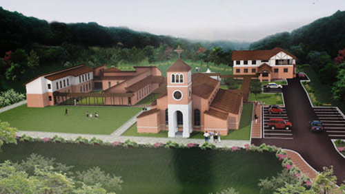 Augustinian Priory, church and retreat buildings at Yeonchon, Korea. All buildings are confidently expected to be completed by mid-2017.