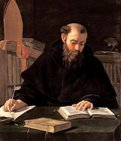 St Augustine writing