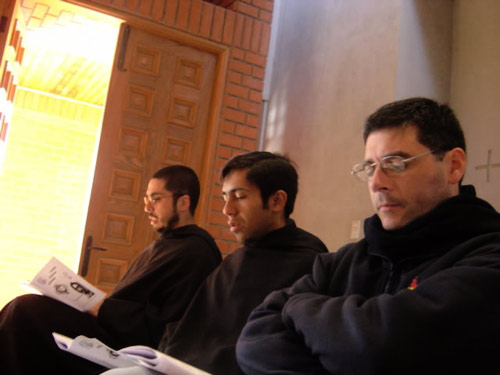 Augustinians at prayer, Latin America