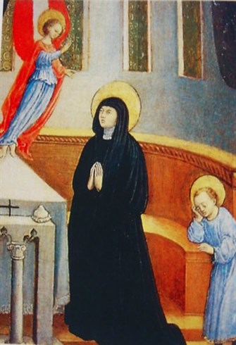Monica prays for Augustine, by Antonio Viviani