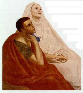 Painting of Augustine and Monica, in 1846