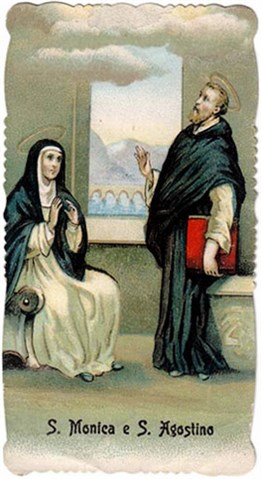 A nineteenth-century holy card